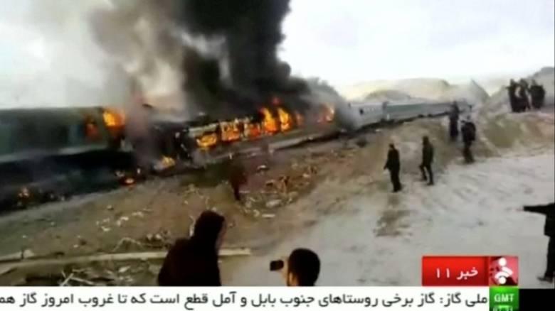 Ιράν: Σύγκρουση τρένων με δεκάδες θύματα και τραυματίες (vid)