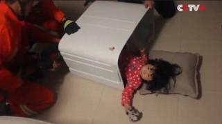 To δίχρονο Κινεζάκι που παγιδεύτηκε σε... κάδο πλυντηρίου (video)