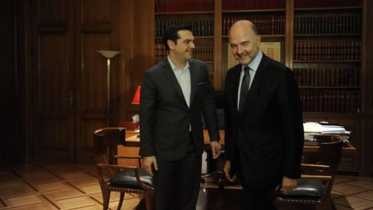 Συμφώνησαν Τσίπρας και Μοσκοβισί ότι κλείνει η αξιολόγηση
