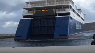 Καπετάνιος «παρκάρει» το πλοίο του με τον πλέον εντυπωσιακό τρόπο(vid)
