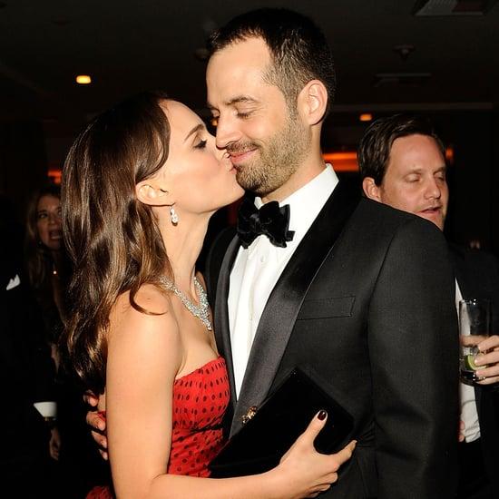 Natalie Portman Benjamin Millepied Kiss Pictures 2012 Vanity Fair Oscars Party