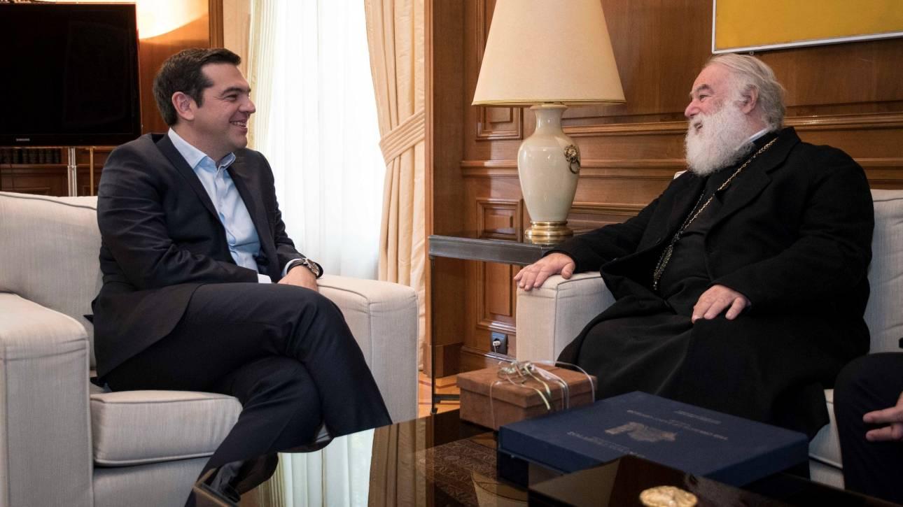 Συνάντηση του Αλ. Τσίπρα με τον Πατριάρχη Αλεξανδρείας