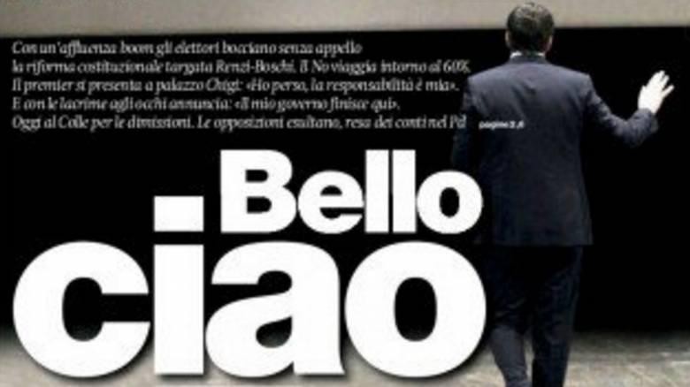 Bello ciao, ο ιταλικός Τύπος αποχαιρετά τον Ματέο Ρέντσι