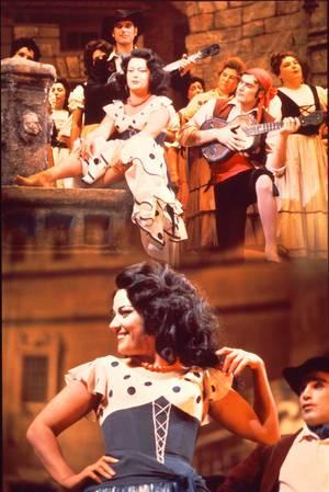"""Όπερα """"Κάρμεν"""" του Ζ. Μπιζέ. Κάρμεν η Ε. Ομπραζτσόβα. Φωτογραφία Α. Νεβέζιν από τη συλλογή του Μουσείου του Θεάτρου Μπολσόι της Ρωσίας"""