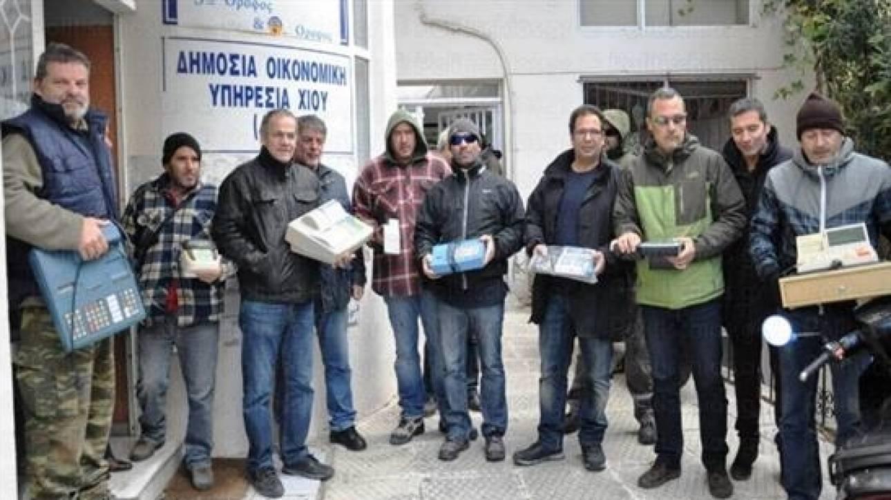 Οι επαγγελματίες Χίου κατέθεσαν τις ταμειακές τους αντιδρώντας στον ΦΠΑ