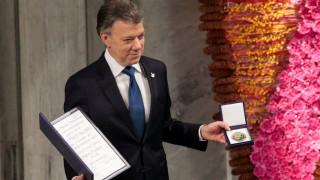 Νόμπελ Ειρήνης: Ελπιδοφόρα η συμφωνία με τους FARC, είπε ο Σάντος στην απονομή