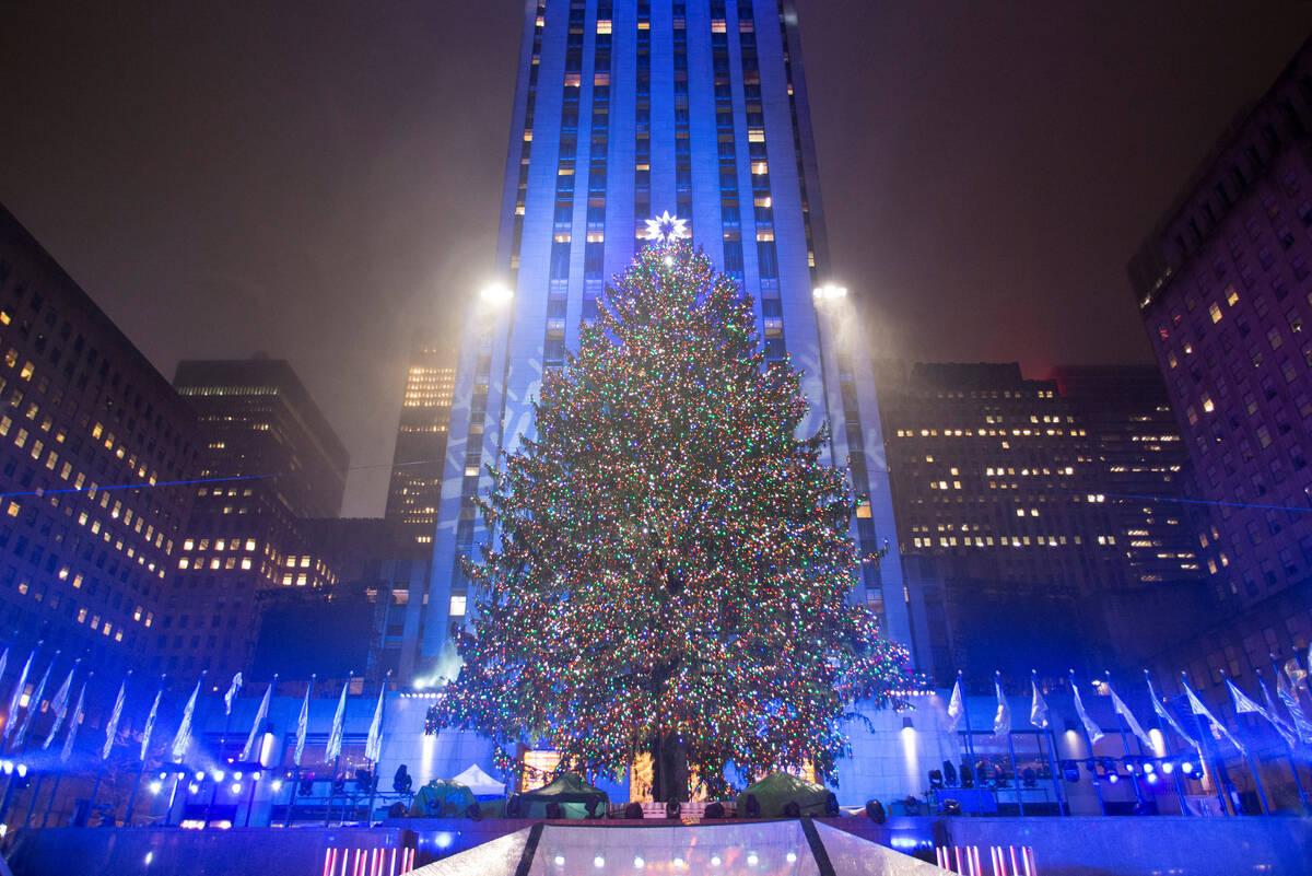 Rockefeller Center Tree Lit