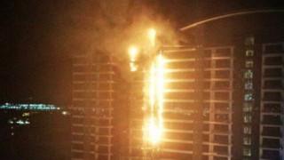 Πυρκαγιά σε ξενοδοχείο στο Ντουμπάι (vids)