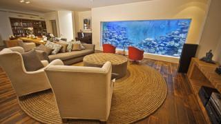 Έφτιαξε ενυδρείο σε μέγεθος πισίνας στο... σαλόνι του (vids&pics)