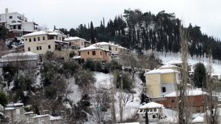 Κακοκαιρία: Χιονόπτωση στο Πήλιο