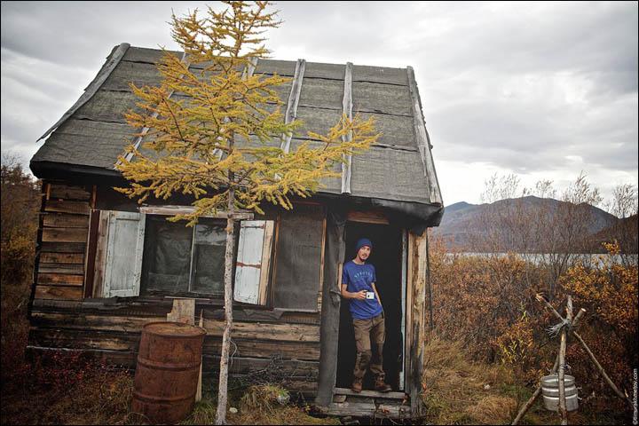 inside winter hut