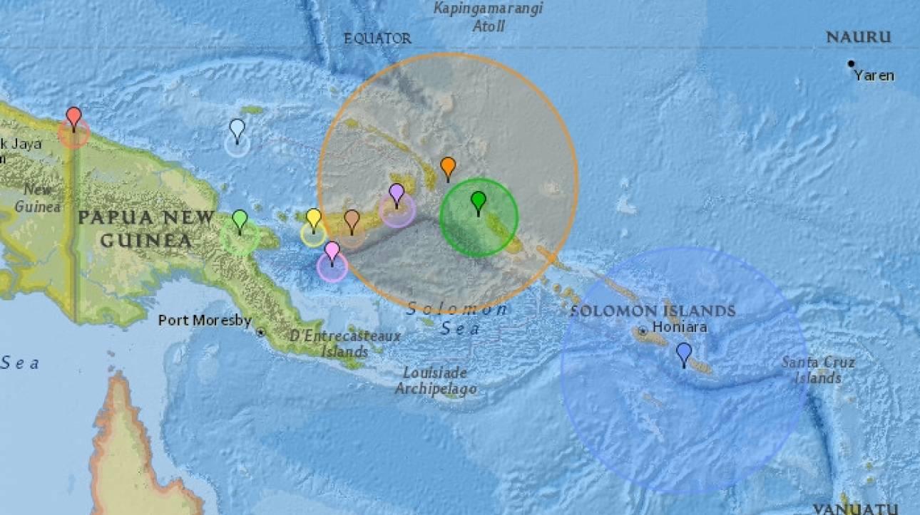 Ισχυρότατος σεισμός στην Παπούα Νέα Γουινέα