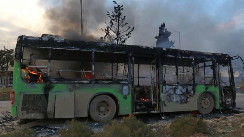 Χαλέπι: Αναβάλλονται οι επιχειρήσεις μεταφοράς αμάχων