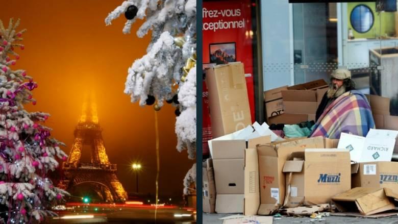 Χριστούγεννα: το λαμπερό Παρίσι, οι άστεγοι και οι αρουραίοι
