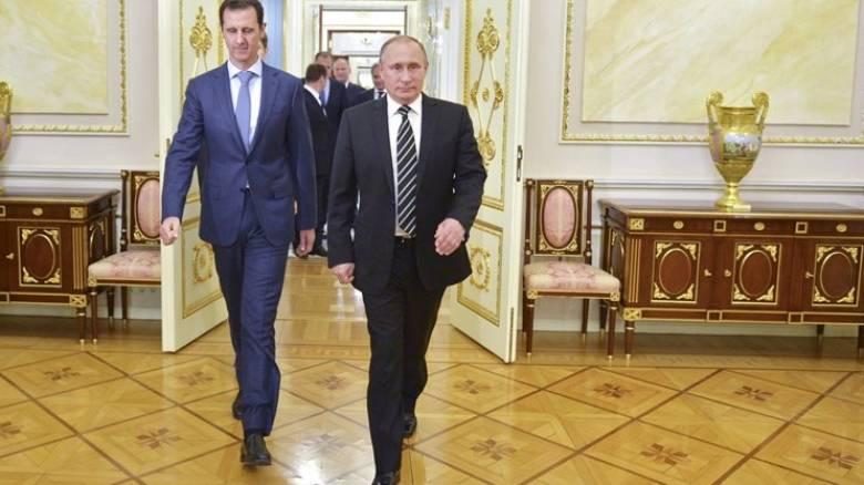 Συγχαρητήρια από τον Πούτιν στον Άσαντ για την ανακατάληψη του Χαλεπίου