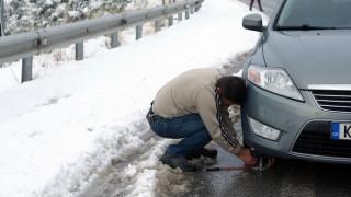 Παγετός σε περιοχές της Καρδίτσας, απαραίτητες οι αντιολισθητικές αλυσίδες