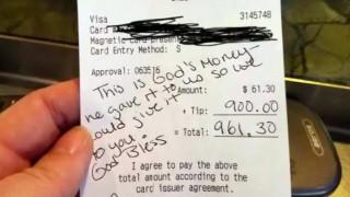 Φιλοδώρημα 900 δολαρίων για μία έγκυο σερβιτόρα