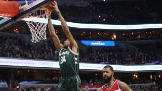NBA: double double του Αντετοκούνμπο στην ήττα από τους Γουίζαρντς