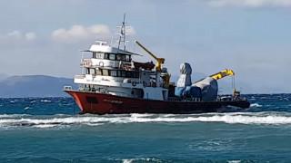 Αμετακίνητο το τουρκικό «Alcatras» από την Κω εξαιτίας της κακοκαιρίας
