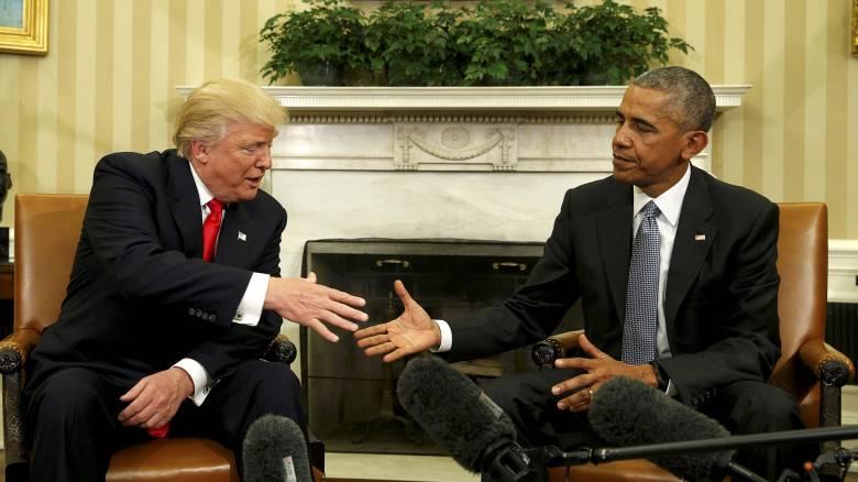 Μετά το tweet «φαρμάκι», Τραμπ και Ομπάμα είχαν ένα «πολύ, πολύ ωραίο τηλεφώνημα»