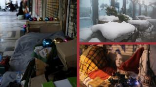 Κακοκαιρία: οι άστεγοι που επιλέγουν να παραμείνουν στον χιονιά