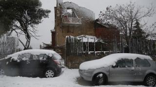 Χιονόπτωση στην Αττική-Που έχει διακοπεί η κυκλοφορία