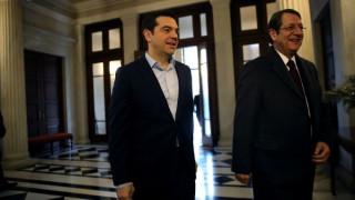 Κοινές δράσεις για το Κυπριακό αποφάσισαν Τσίπρας-Αναστασιάδης