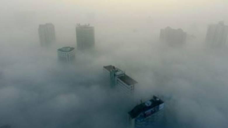 «Εξαφανίστηκε» η Κίνα από την... αιθαλομίχλη (pics)
