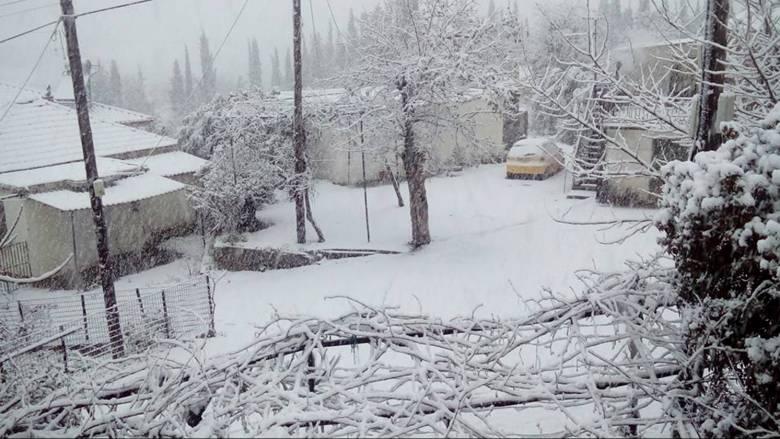 Στο χιόνι πολλές περιοχές της χώρας
