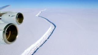 Θεόρατο παγόβουνο – όσο 85 Μανχάταν – έτοιμο να αποκολληθεί από την Ανταρκτική