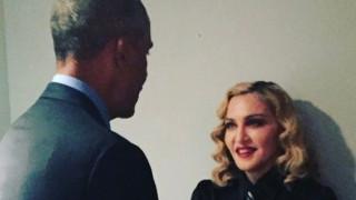 Η Μαντόνα αποχαιρετά τον Μπάρακ Ομπάμα (pic)