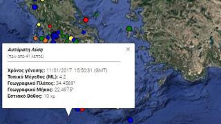 Σεισμός 4,2 Ρίχτερ νοτιοδυτικά της Γαύδου