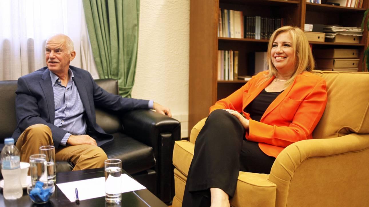 Συνάντηση του Γ. Παπανδρέου με τη Φ. Γεννηματά