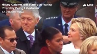 Το «δολοφονικό» βλέμμα της Χίλαρι στον Μπιλ (vid)