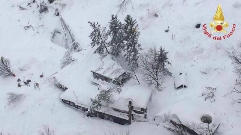 Χιονοστιβάδα Ιταλία: Εξακολουθούν να αγνοούνται 23 άνθρωποι