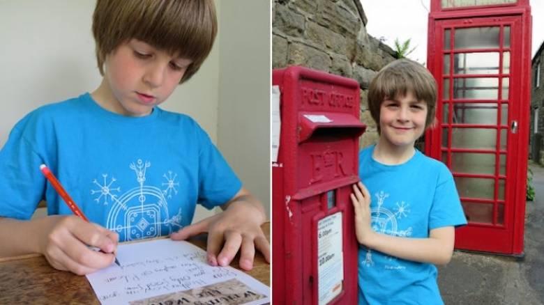 Εννιάχρονος γράφει γράμματα σε αγνώστους για να... γνωρίσει τον κόσμο (vid)
