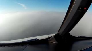 Η προσγείωση μέσα στην ομίχλη δεν είναι εύκολη υπόθεση (vid)