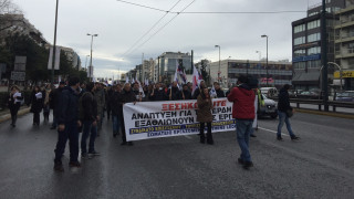 Πορεία εργαζομένων του Athens Ledra προς το υπουργείο Εργασίας (pics)