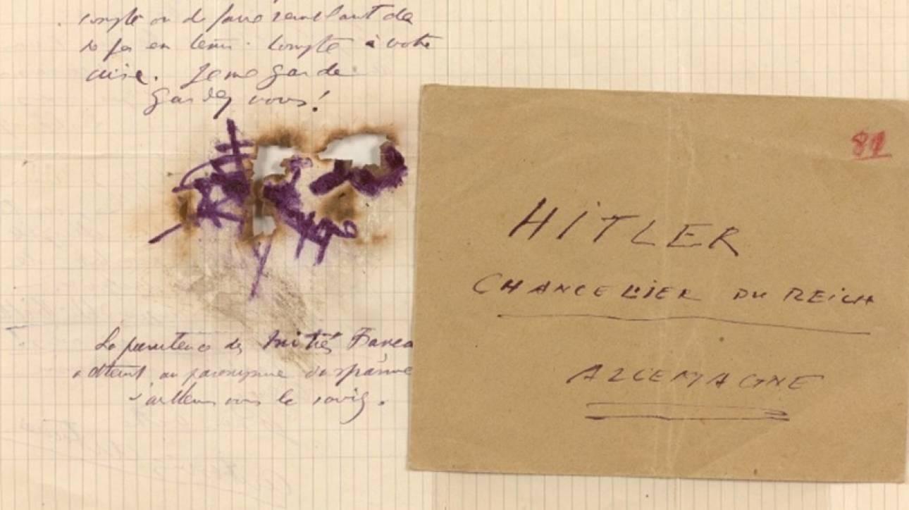 «Αγαπητέ κύριε Χίτλερ, φυλαχθείτε!» - Σε δημοπρασία επιστολές από το παρελθόν