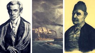 Η πυρπόληση της φρεγάτας «Ελλάς» το 1831 από τον ναύαρχο Μιαούλη