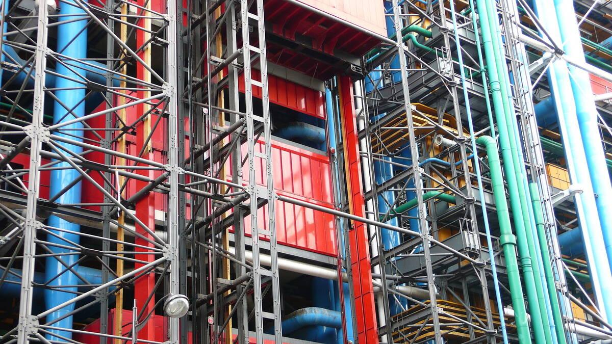 Pompidou Centre building technology