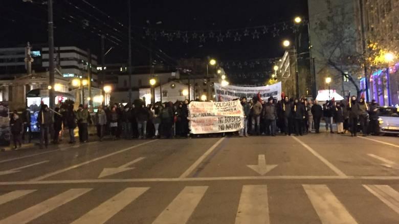 Συγκέντρωση αλληλεγγύης στα Προπύλαια (pic)