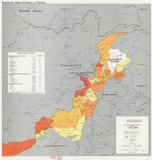 Πληθυσμιακές αλλαγές που οφείλονται στην μετακίνηση προσφύγων στα σύνορα Αφγανιστάν- Πακιστάν, το 1982.