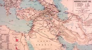 Μεταφορά πετρελαίου και εγκαταστάσεις διύλησης στη Μέση Ανατολή στις αρχές της δεκαετίας του 1950.