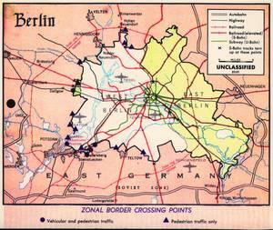 Δρόμοι στο Δυτικλό και Ανατολικό Βερολίνο το 1960