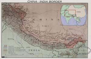 Η περιοχή των συνόρων Κίνας-Ινδίας το 1963.