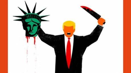 Γερμανία: Κατακραυγή για το εξώφυλλο του Spiegel με τον «τζιχαντιστή» Τραμπ