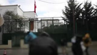 Βίντεο από την καταδρομική επίθεση του Ρουβίκωνα στο τουρκικό προξενείο
