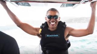 Ο Ομπάμα κάνει σέρφινγκ στην Καραϊβική (vid)