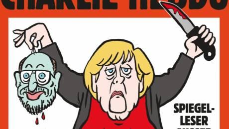 Η Άνγκελα Μέρκελ «τζιχαντιστής» στο εξώφυλλο του Charlie Hebdo